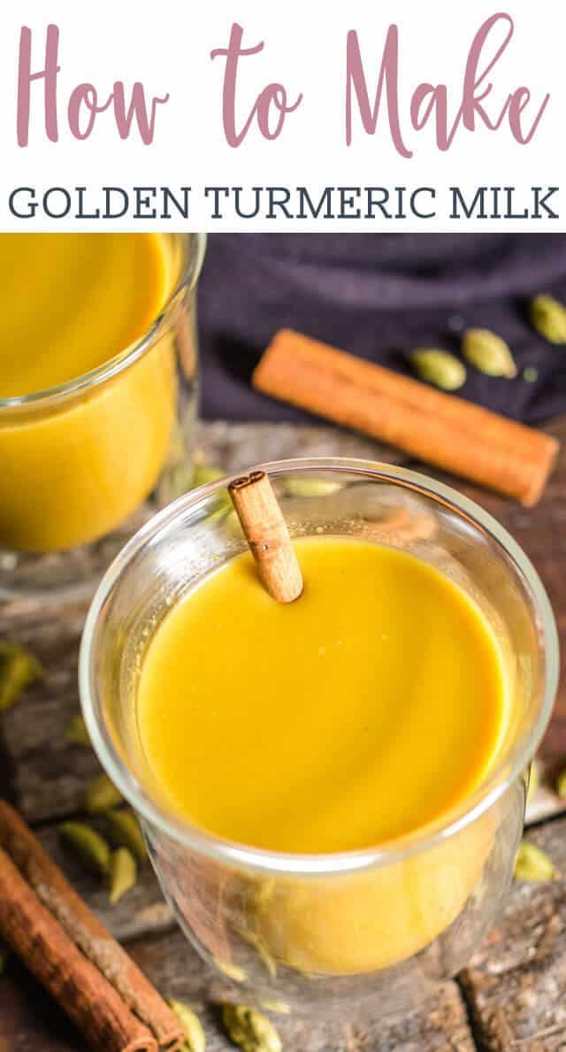 closeup of golden milk title image