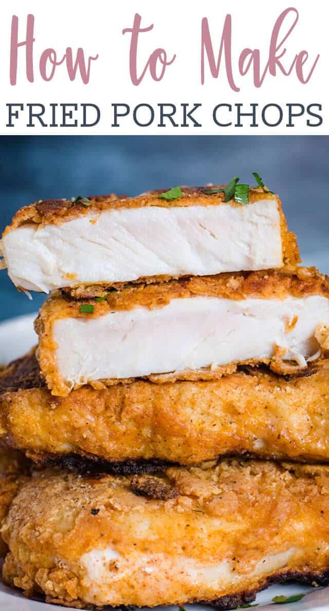 A close up of fried pork chops