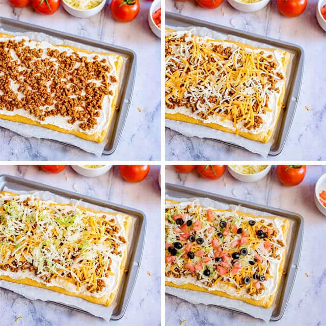 how to make taco pizza appetizer