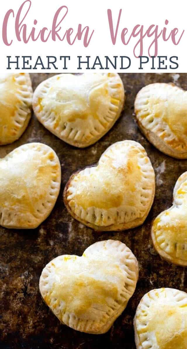 A close up of heart shaped chicken pies