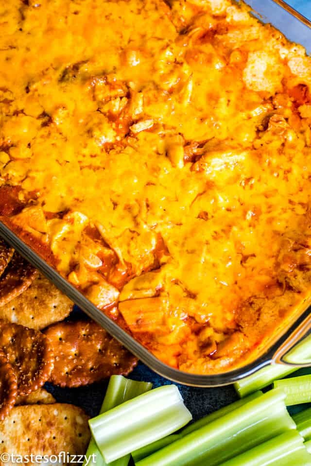 buffalo chicken dip in casserole
