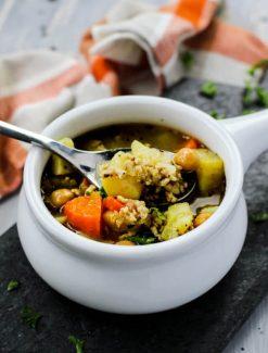 spoonful of Chicken Sweet Potato Soup