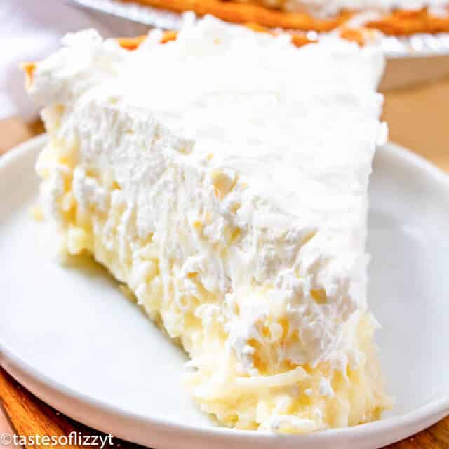 coconut cream pie with homemade whipped cream