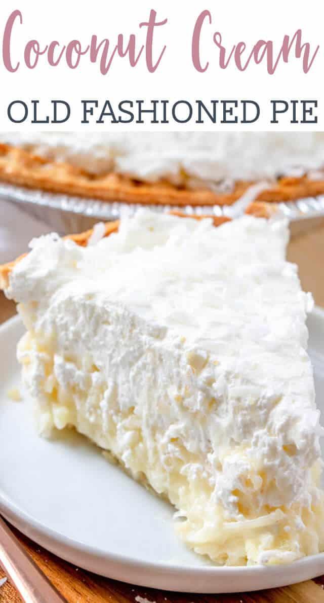 A piece of coconut cream pie