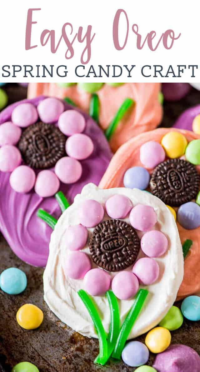 oreo flower candies on a table