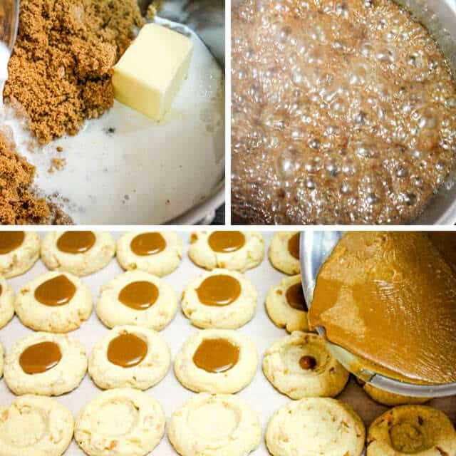 step by step photos making thumbprint cookies