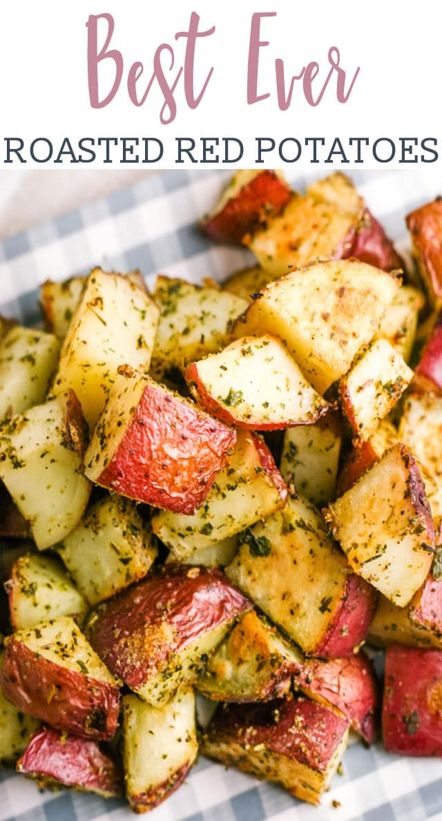 Roasted red potatoes are a delicious side dish that pairs perfectly with just about everything. This oven roasted potatoes recipe is easy to make, too! via @tastesoflizzyt