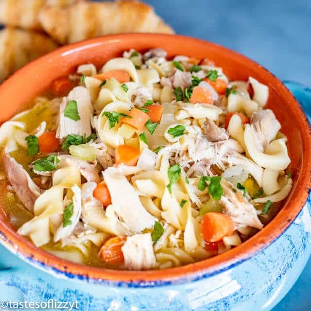Chicken Noodle Soup with carrots and celery