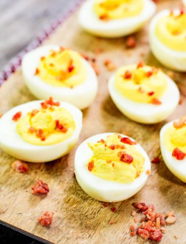 how to make deviled eggs with bacon