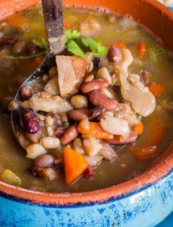 Ham Bone Soup {How to Make Homemade 15 Bean Soup Recipe}
