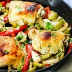 Italian Chicken Skillet Recipe closeup