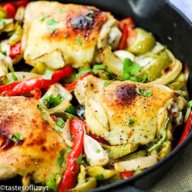 Italian Chicken Skillet Recipe closeup