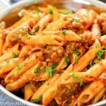 One Pot Sausage Pasta closeup