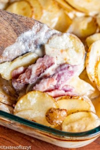 Scalloped Potatoes and Ham Recipe in 9x13 pan
