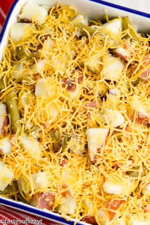 unbaked potato casserole