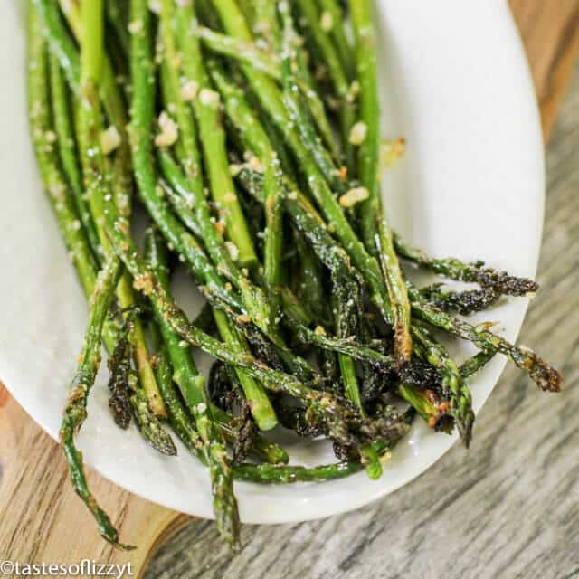A close up of asparagus
