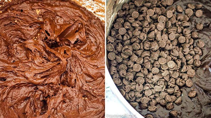 add chocolate chips to brownie batter