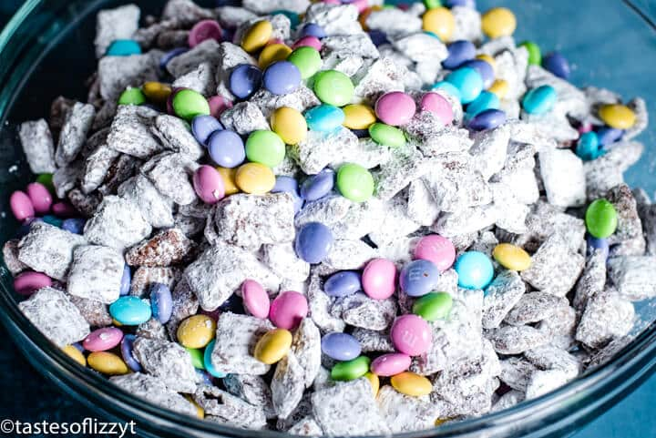 Puppy chow and Easter m&ms