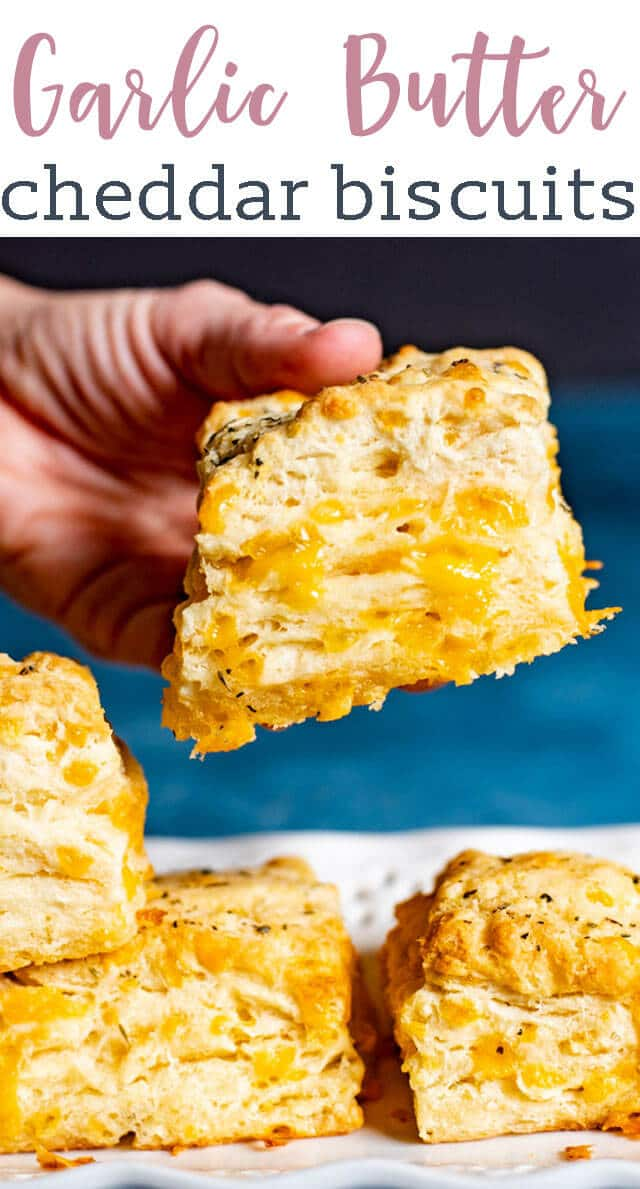 "Garlic lovers will love these cheesy Cheddar Bay Biscuits. Use our special ""folding"" technique to get fluffy layers in each biscuit. Better than Red Lobster Biscuits! via @tastesoflizzyt"