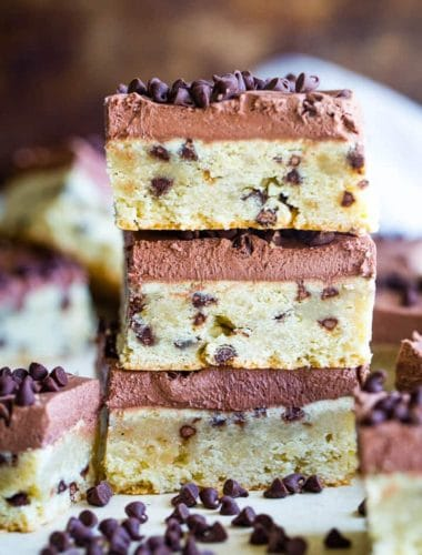 Chocolate Chip Sugar Cookie Bars