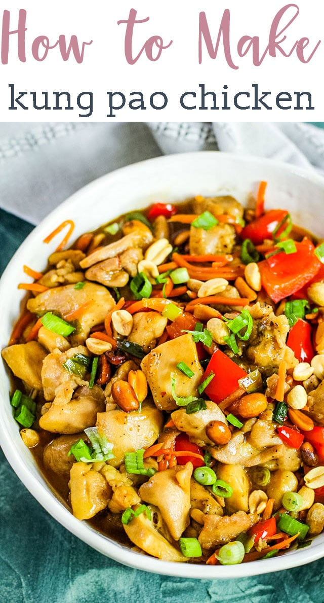 Kung pao chicken is a fun to say and full of flavor dish that is often overlooked on menus. Kung pao is a sweet meets spicy dish that is filled with tender chicken, peppers, peanuts, and more! #kungpao #chicken #chinese #asian #dinner via @tastesoflizzyt