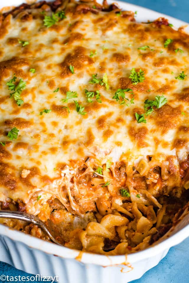 Lasagna Noodle Casserole Dinner Recipe With Beef Cheese Noodles