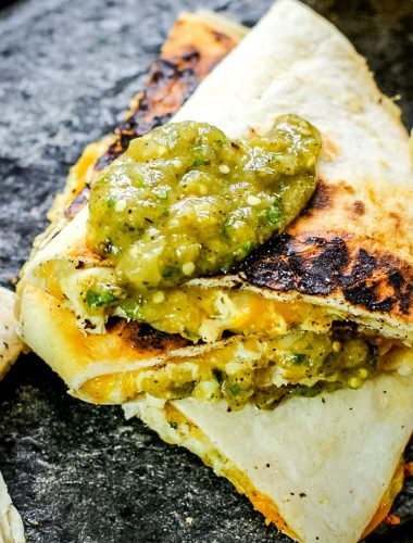Salsa Verde Chicken Quesadillas