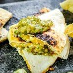 Salsa Verde Chicken Quesadillas