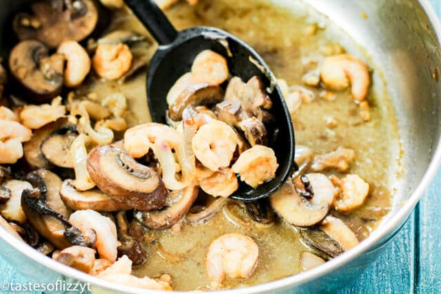 mushrooms in a skillet