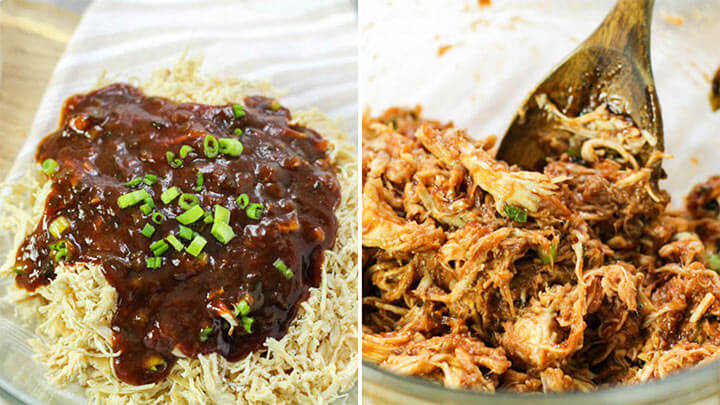 shredded chicken with bbq sauce