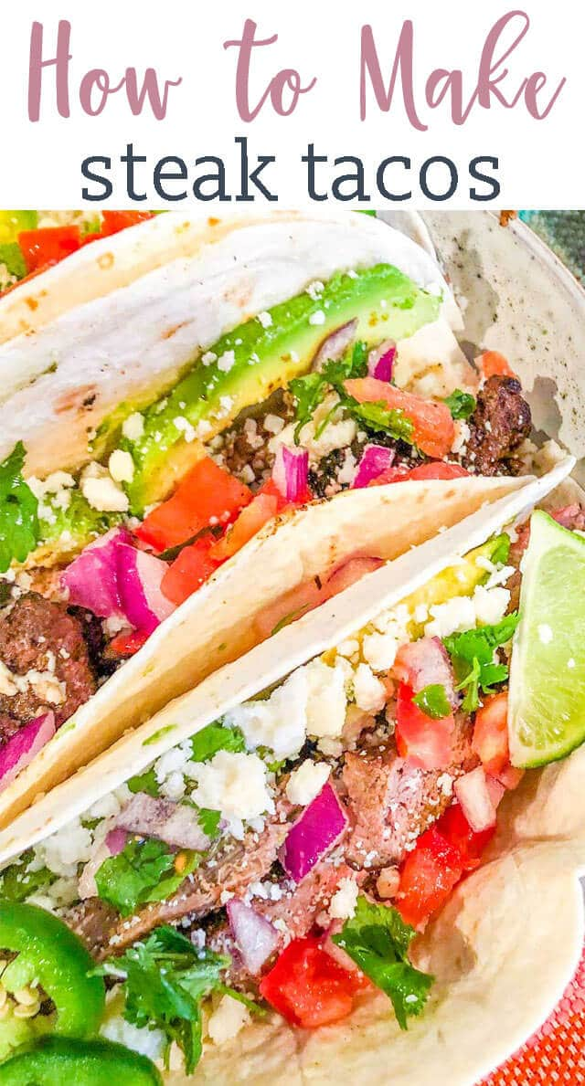 We're teaching how to make the best steak tacos recipe. Everything you need to know from steak rubs to taco toppings. You've never had a street taco like this! #tacos #streettacos #beef #steak #cincodemayo via @tastesoflizzyt