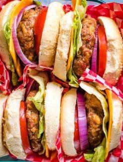 pan of turkey burgers