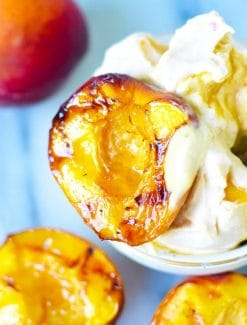 Maple Grilled Peaches Recipe {Easy Healthy Dessert on the Grill}
