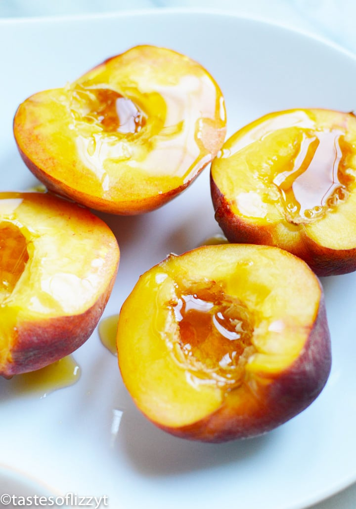 peaches with maple syrup