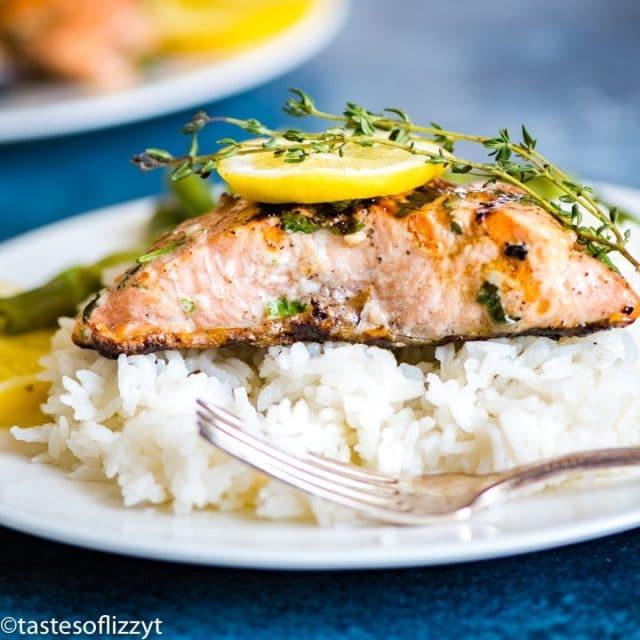 Grilled Lemon Salmon square image