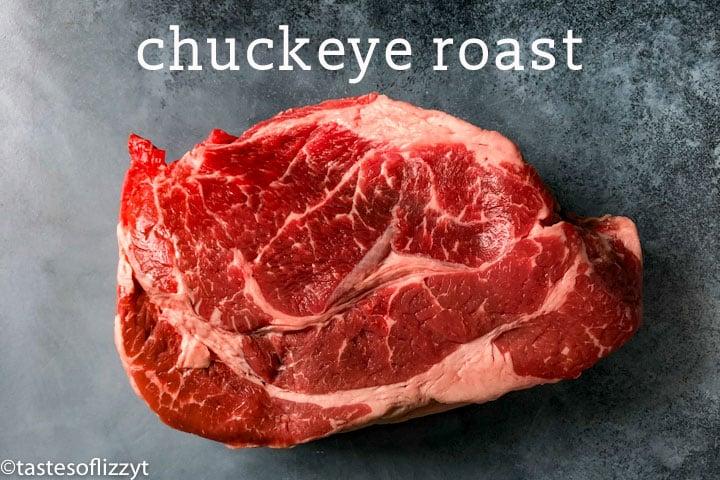 raw chuck eye roast