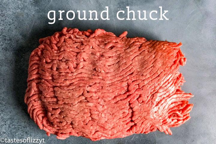 pound of raw ground chuck