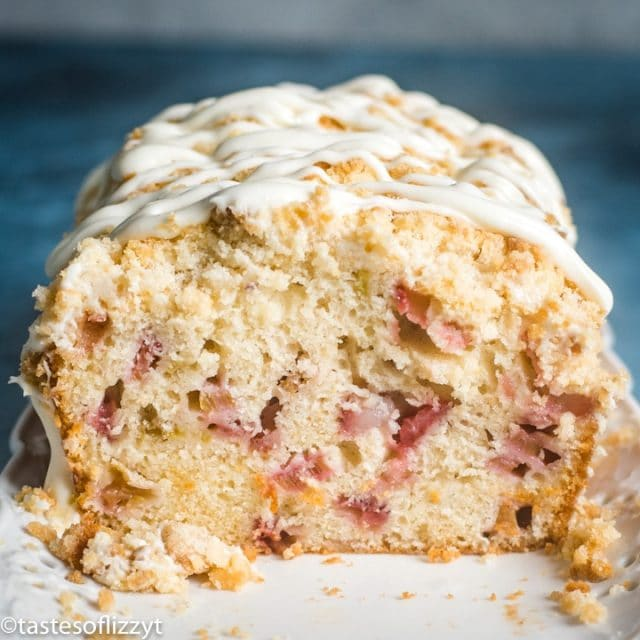 inside of Strawberry Rhubarb Bread