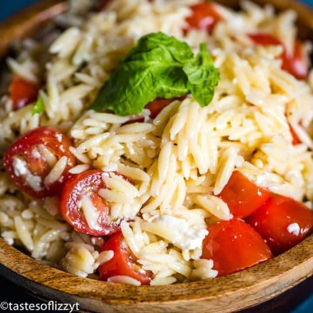Tomato Orzo Pasta Salad with feta