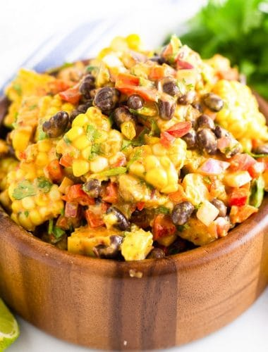 black bean salad with corn