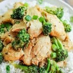 chicken and broccoli over rice