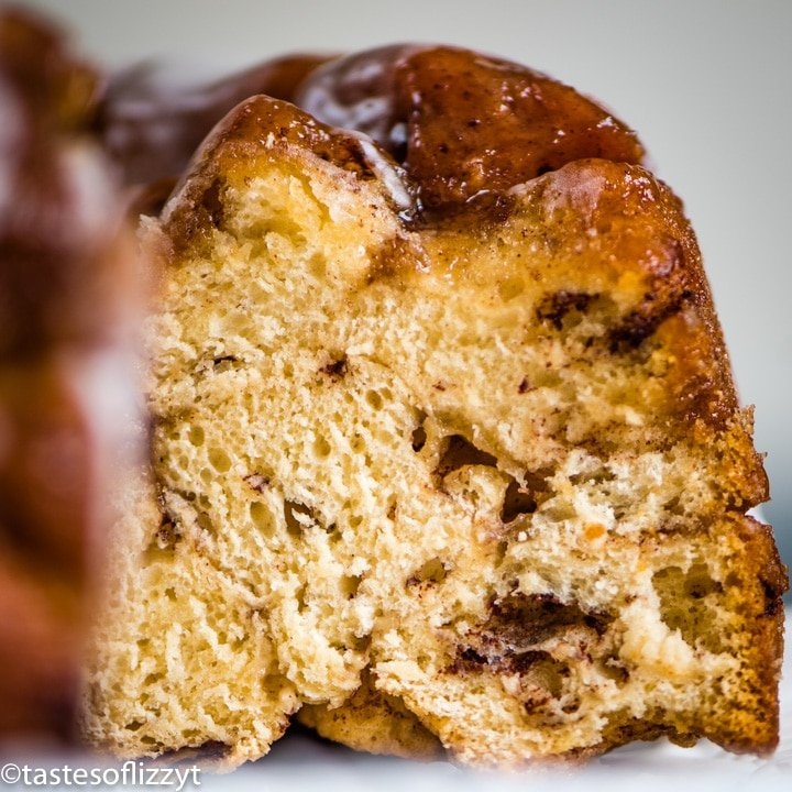 Cinnamon Roll Monkey Bread with glaze