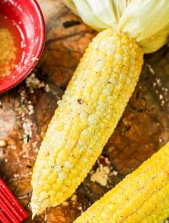 buttered  ear of corn