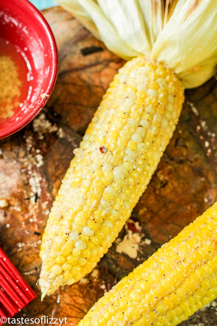 buttered  ear of corn