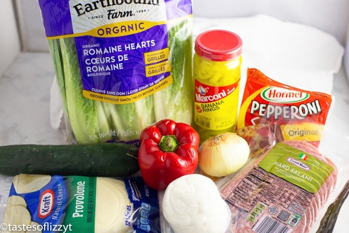 ingredients for italian sub salad