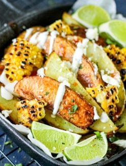 Loaded Mexican Potato Wedges with fresh limes