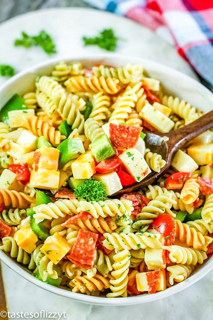 Italian Pasta Salad Easy Summer Salad Recipe With Fresh Vegetables