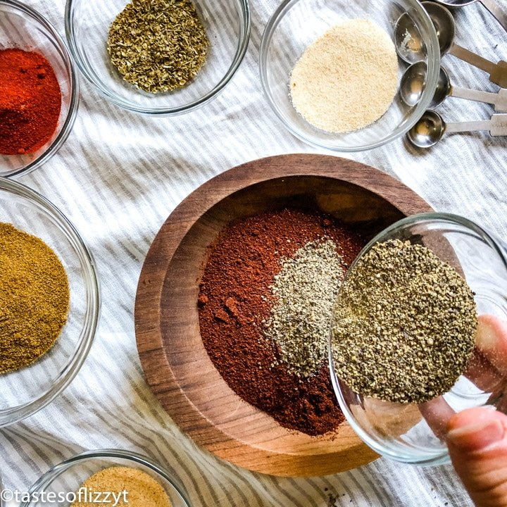 Homemade Taco Seasoning with black pepper