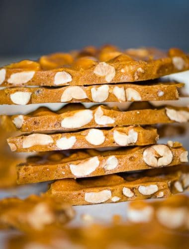 stack of Peanut Brittle