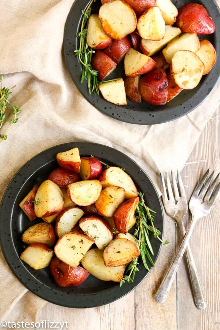 golden brown potatoes on a plate